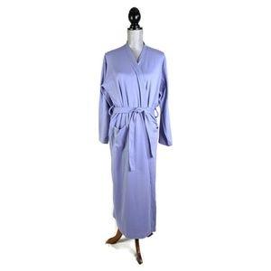 Lands End Robe Bathrobe Womens S Purple Tie Front
